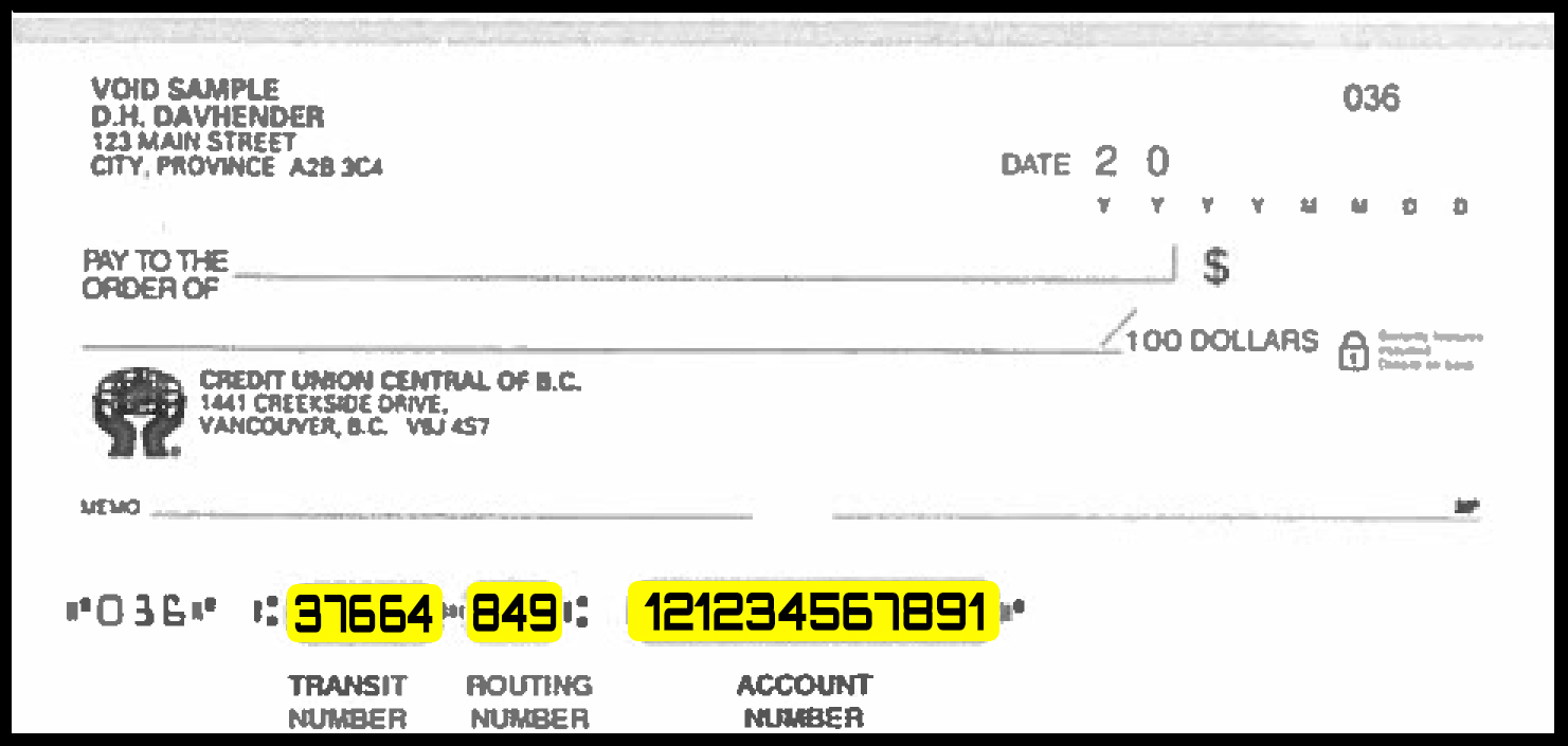 bayview credit union - receiving wire transfer in canadian funds