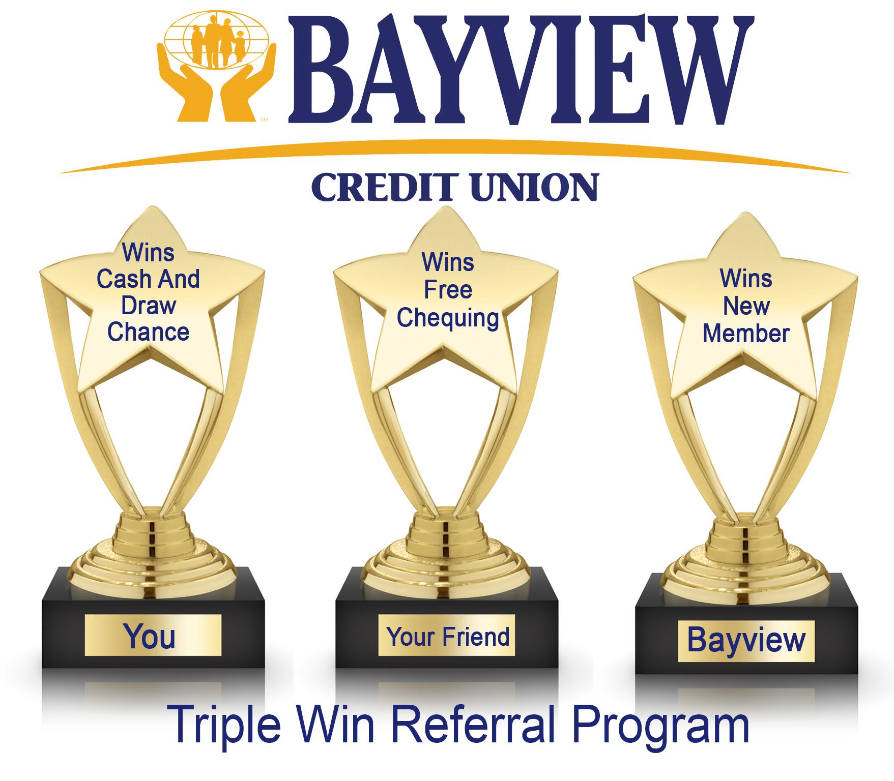 Bayview Credit Union - Triple Win Referral Program